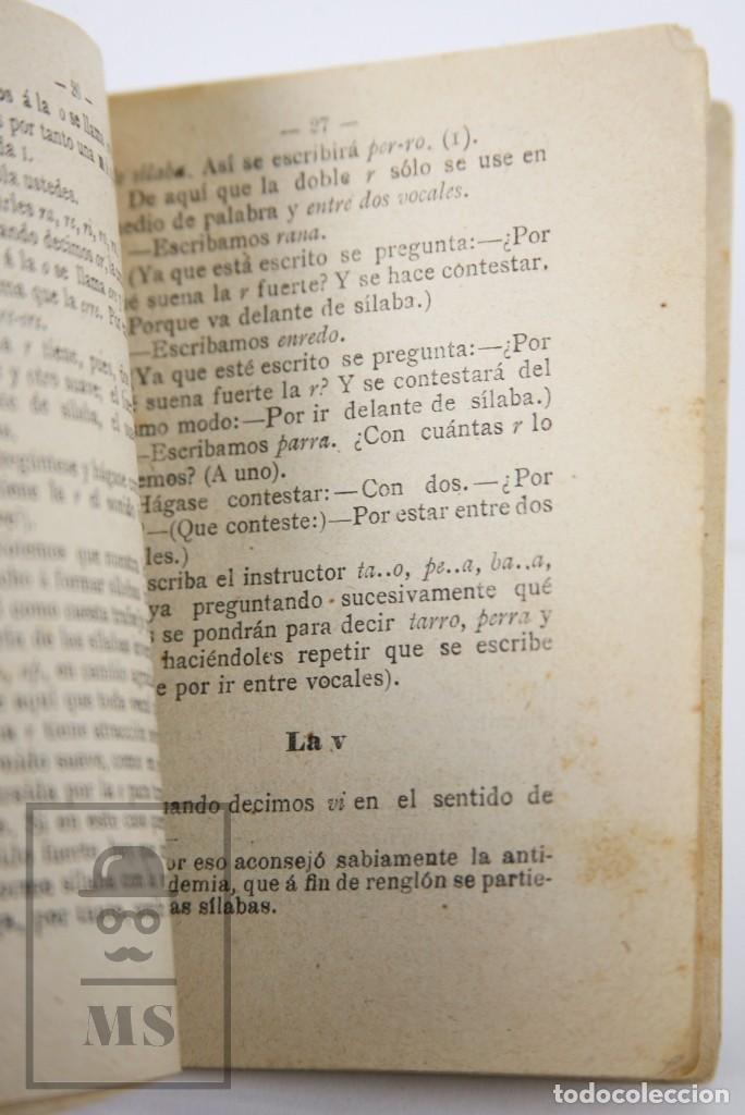 Libros antiguos: Antiguo Librito Lectura y Escritura en una Semana, Fernando Lozano - Evaristo Sánchez, 1893 - Foto 5 - 168668744