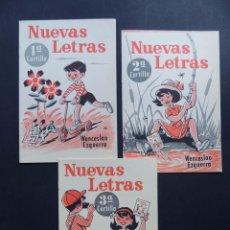 Libros antiguos: NUEVAS LETRAS Nº 1 - 2 - 3 / TRES CARTILLAS / WENCESLAO EZQUERRA 1968 / SIN USAR. Lote 212550835