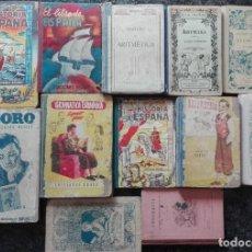 Libros antiguos: LOTE DE 12 LIBROS DE TEXTO ANTIGUOS PUBLICADOS POR LA EDITORIAL BRUÑO. Lote 168746508