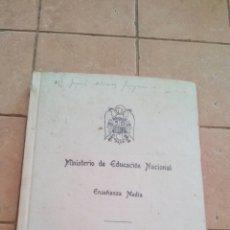 Libros antiguos: LIBRO DE CALIFICACION ESCOLAR (NOTAS CURSO GUERRA CIVIL) EXPEDIDO EN EL AÑO 1946. Lote 168845060