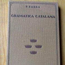Libros antiguos: COMPENDIO DE GRAMATICA CATALANA- P.FABRA, LLIBRERIA CATALONIA (BARCELONA),1929.. Lote 168912432