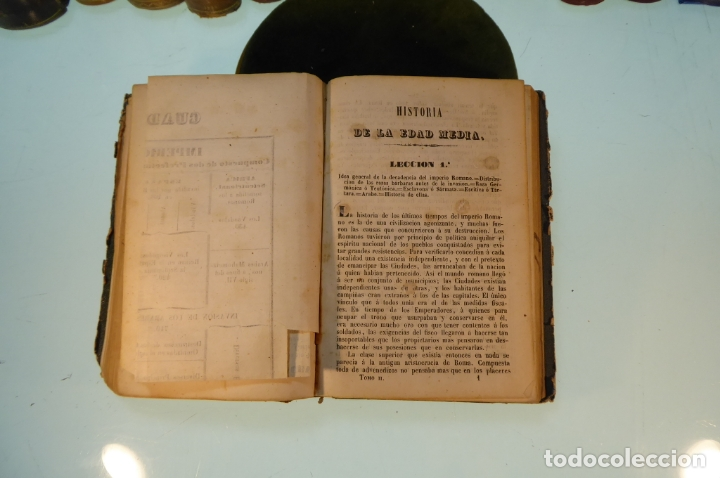 Libros antiguos: Curso elemental de Historia. Don Joaquín Federico de Rivera. 3 tomo en 1 volumen. 1856. Valladolid. - Foto 10 - 169033904