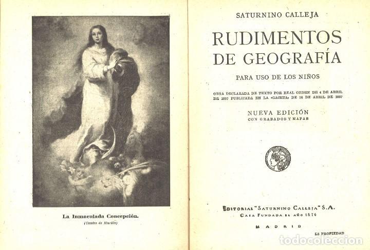 Libros antiguos: Geografía para niños. Saturnino Calleja - Foto 2 - 169203376