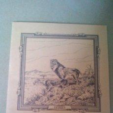 Libros antiguos: CUADERNO DE ESCUELA, PORTADA DE ANIMALES, LEONES - A ESTRENAR, PROCEDEN DE ANTIGUA PAPELERIA. Lote 169361532