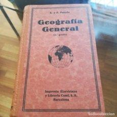 Libros antiguos: GEOGRAFIA GENERAL-2º GRADO--E. Y F. PALUZIE-IMPRENTA ELZEVERIANA-1930-MUY BUEN ESTADO. Lote 170182164