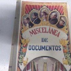 Libros antiguos: MISCELANEA GENERAL DE DOCUMENTOS. ESTEBAN PALUZIE.IMP. ELZEVIRIANA 1930. Lote 170219712