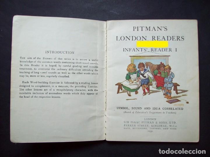 Libros antiguos: CARTILLA INFANTIL INGLESA. 1930. Pitmans London Readers : Infants Reader. Symbol, Sound and Idea - Foto 2 - 171134178