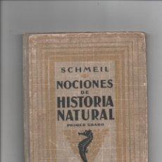 Libros antiguos: NOCIONES DE HISTORIA NATURAL. OTTO SCHMEIL.. Lote 171421062