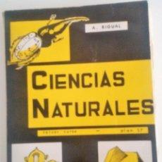 Libros antiguos: CIENCIAS NATURALES TERCER CURSO ,PLAN DEL 57. Lote 171754179