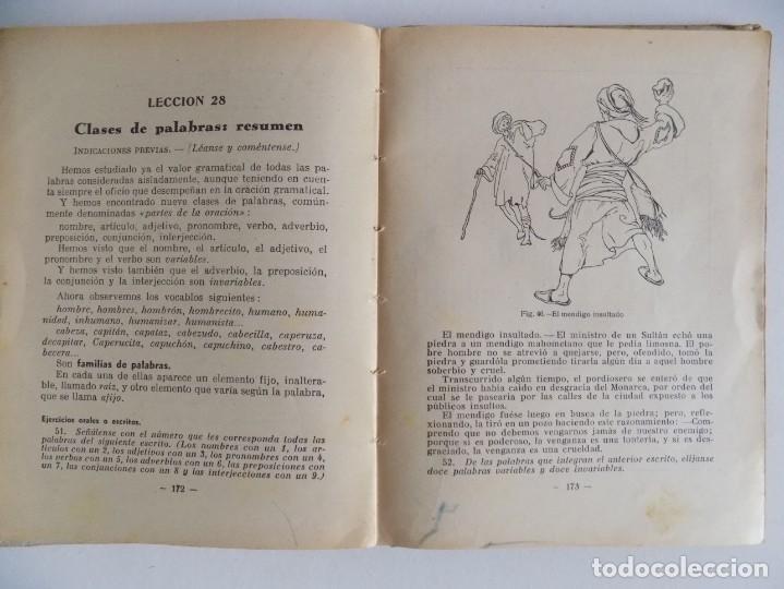 Libros antiguos: LIBRERIA GHOTICA. CASASSAS CANTÓ. GRAMÁTICA DE LA LENGUA ESPAÑOLA. 2o GRADO. 1935. ILUSTRADO. - Foto 3 - 171841009