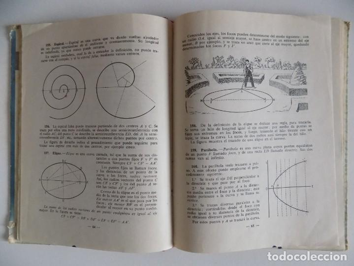 Libros antiguos: LIBRERIA GHOTICA. GEOMETRIA PRÁCTICA Y AGRIMENSURA.SEGUNDO GRADO POR EDELVIVES.1958. ILUSTRADO. - Foto 2 - 171841035