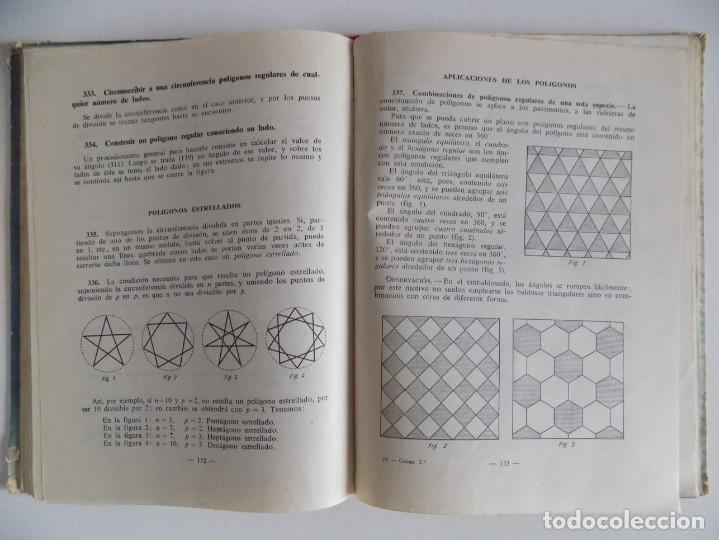 Libros antiguos: LIBRERIA GHOTICA. GEOMETRIA PRÁCTICA Y AGRIMENSURA.SEGUNDO GRADO POR EDELVIVES.1958. ILUSTRADO. - Foto 3 - 171841035