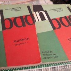 Libros antiguos: INBAD QUIMICA. DOCUMENTO 1 Y 2. COU.. Lote 172222912