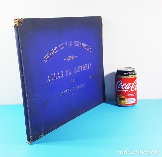 CURIOSO CUADERNO ATLAS DE HISTORIA, JAVIER MARTON DEL COLEGIO DE SAN ESTANISLAO 1891,VER DESCRIPCION (Libros Antiguos, Raros y Curiosos - Libros de Texto y Escuela)