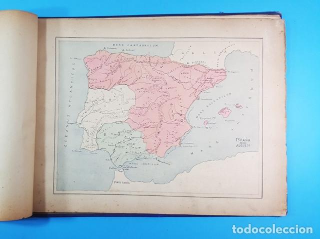 Libros antiguos: CURIOSO CUADERNO ATLAS DE HISTORIA, JAVIER MARTON DEL COLEGIO DE SAN ESTANISLAO 1891,VER DESCRIPCION - Foto 3 - 172232229