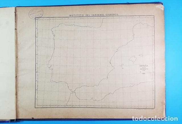 Libros antiguos: CURIOSO CUADERNO ATLAS DE HISTORIA, JAVIER MARTON DEL COLEGIO DE SAN ESTANISLAO 1891,VER DESCRIPCION - Foto 4 - 172232229