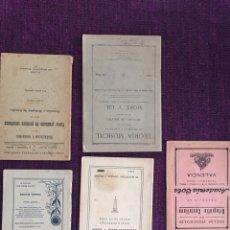 Libros antiguos: LOTE 5 ANTIGUOS LIBROS DE ENSEÑANZA ESCUELA. Lote 172744185
