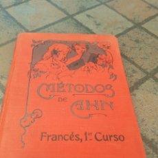 Libros antiguos: MÉTODOS DE AHN FRANCÉS. Lote 173962852