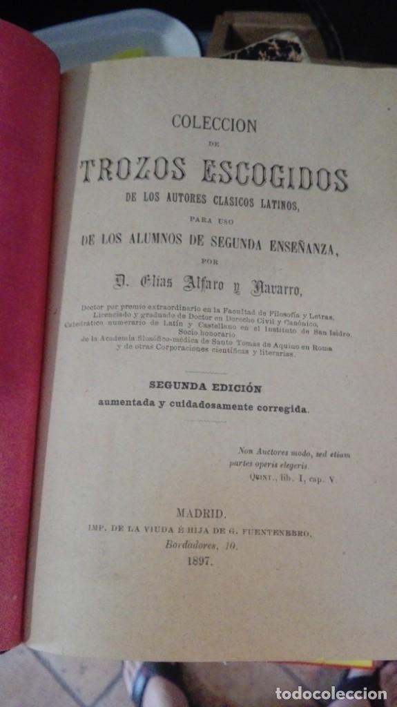 Libros antiguos: COLECCION DE TROZOS ESCOGIDOS DE LOS AUTORES CLASICOS LATINOS PARA USO DE LOS ALUMNOS DE SEGUNDA EN - Foto 2 - 174884569
