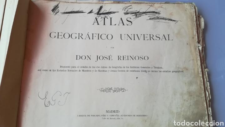 Libros antiguos: Atlas Geográfico Universal Don José Reinoso 1940 - Foto 3 - 175701828