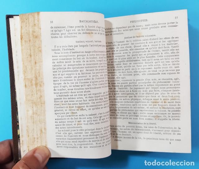 Libros antiguos: MEMENTO DE BACCALAUREAT ES LETTRES RESUME DES CONNAISSANCES, HACHETTE PARIS 1868, BLOIS BACHILLERATO - Foto 4 - 176257538