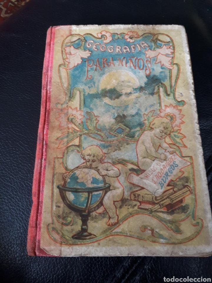 GEOGRAFIA PARA NIÑOS. HIJOS DE S R EN BURGOS AÑO 1925 (Libros Antiguos, Raros y Curiosos - Libros de Texto y Escuela)