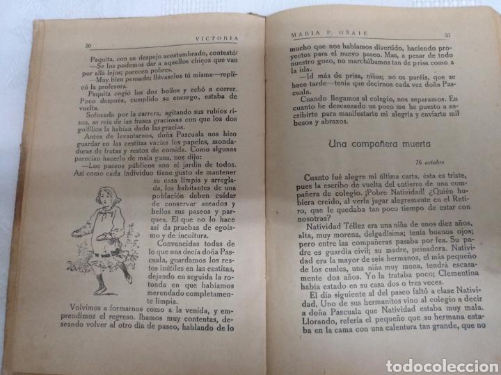 Libros antiguos: VICTORIA LIBRO DE LECTURA PARA NIÑAS. 1916 .M PILAR ONATE - Foto 2 - 177753242