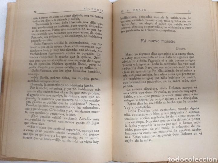 Libros antiguos: VICTORIA LIBRO DE LECTURA PARA NIÑAS. 1916 .M PILAR ONATE - Foto 5 - 177753242