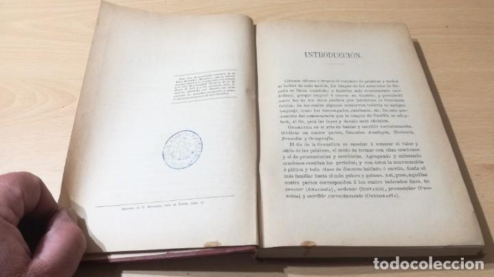 Libros antiguos: GRAMATICA LENGUA CASTELLANA - 1883 REAL ACADEMIA ESPAÑOLA - GREGORIO HERNANDO MADRID - Foto 10 - 177843732