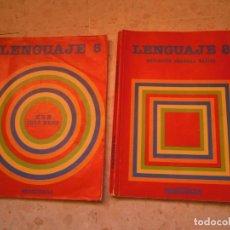 Libros antiguos: LOTE SANTILLANA LIBRO 5 EGB LENGUAJE Y 8 EGB AÑOS 80. Lote 188840537