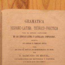 Libros antiguos: GRAMÁTICA HISPANO-LATINA TEÓRICO PRÁCTICA. Lote 178095409