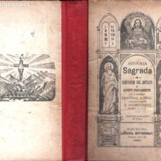 Libros antiguos: CRISTÓBAL SCHMID : HISTORIA SAGRADA (LIBR. MONTSERRAT, 1902). Lote 178791565
