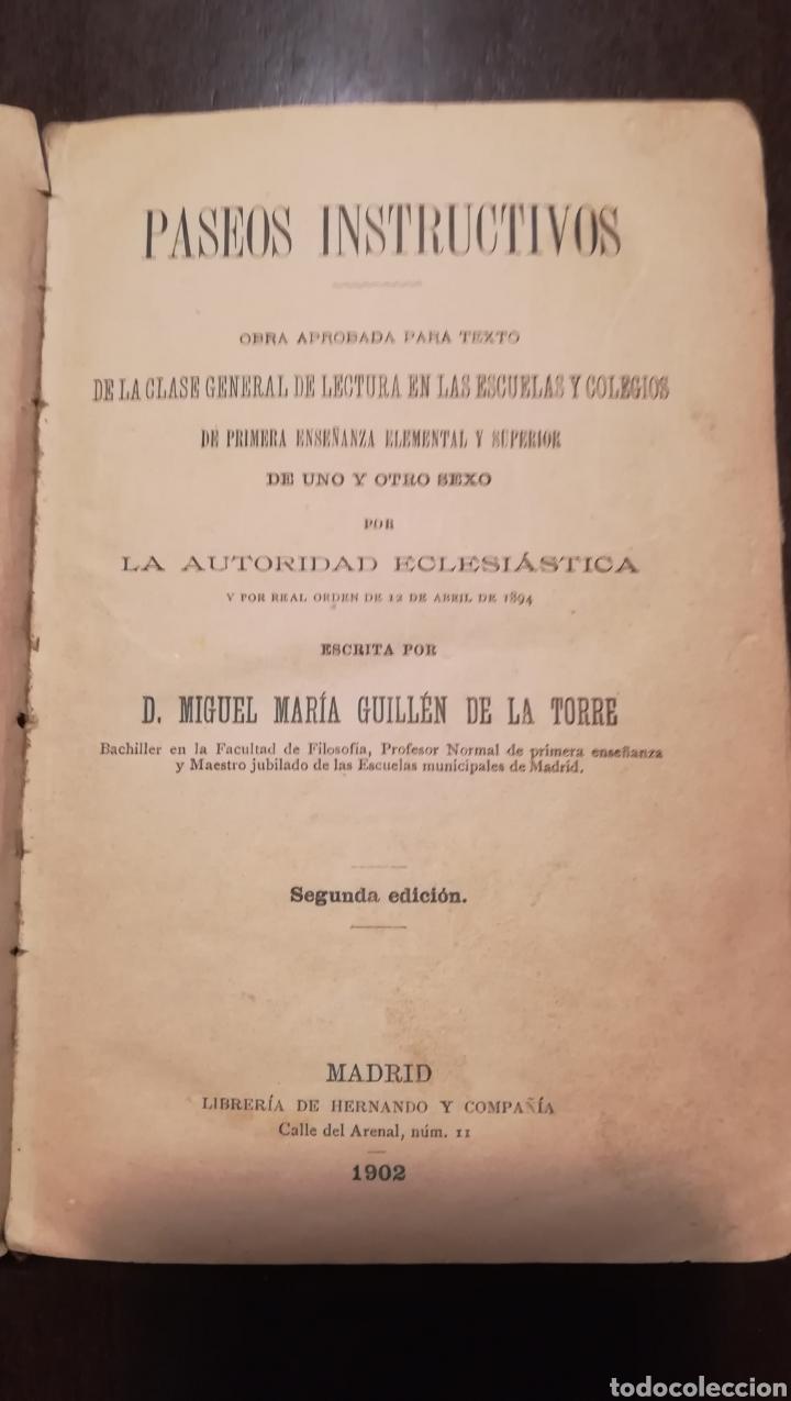 Libros antiguos: Paseos Instructivos. 1902. - Foto 3 - 178900520