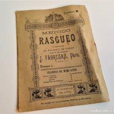 Libros antiguos: ANTIGUO CUADERNO METODO DE RASGUEO - 16X22.CM APROX. Lote 180979336