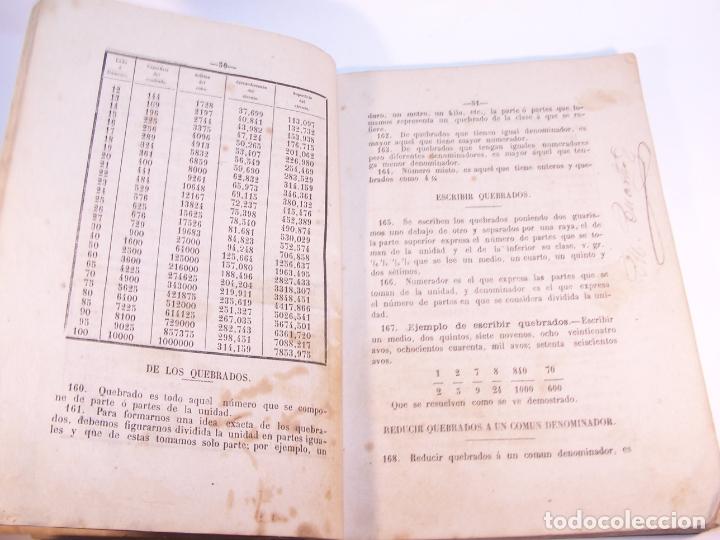 Libros antiguos: Aritmética y sistema métrico decimal práctico. Dedicados al benemérito cuerpo de la guardia civil. - Foto 4 - 181037157