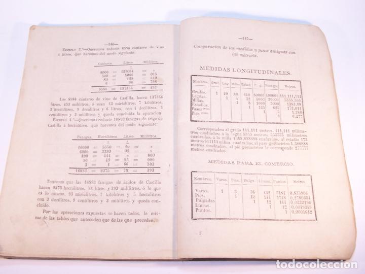 Libros antiguos: Aritmética y sistema métrico decimal práctico. Dedicados al benemérito cuerpo de la guardia civil. - Foto 6 - 181037157