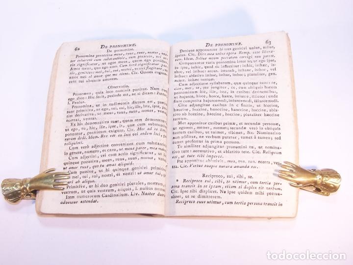 Libros antiguos: Liber de octo partium orationis constructione. P. Bartholomaeo Brabo. Vallisoleti. 1814. - Foto 4 - 181058236