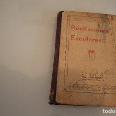Libros antiguos: RECITACIONES ESCOLARES EZEQUIEL SOLANA. Lote 182419385