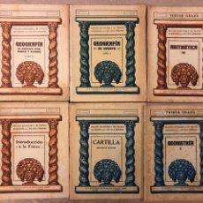 Libros antiguos: LOTE DE 6 LIBRITOS - EDICIÓN ECONÓMICA DE TEXTOS MODERNOS PARA LA ESCUELA PRIMARIA. Lote 182701037
