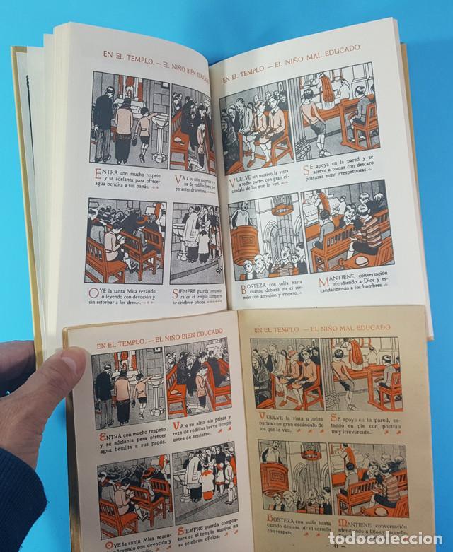 Libros antiguos: CURIOSO LOTE 2 CARTILLAS MODERNA DE URBANIDAD F.T.D. 3ª EDIC 1929, ORIGINAL Y REEDICION 2007 64 PAG - Foto 4 - 183546645