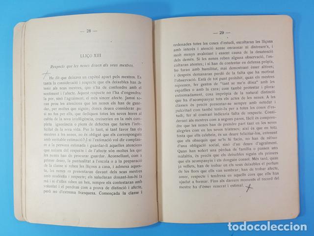 Libros antiguos: LIRBO DE URBANIDAD: NOCIONS DURBANITAT I CORTESIA, EMILIA FURNO MONSECH 1930, RARO, VER DESCRIPCION - Foto 5 - 183547382