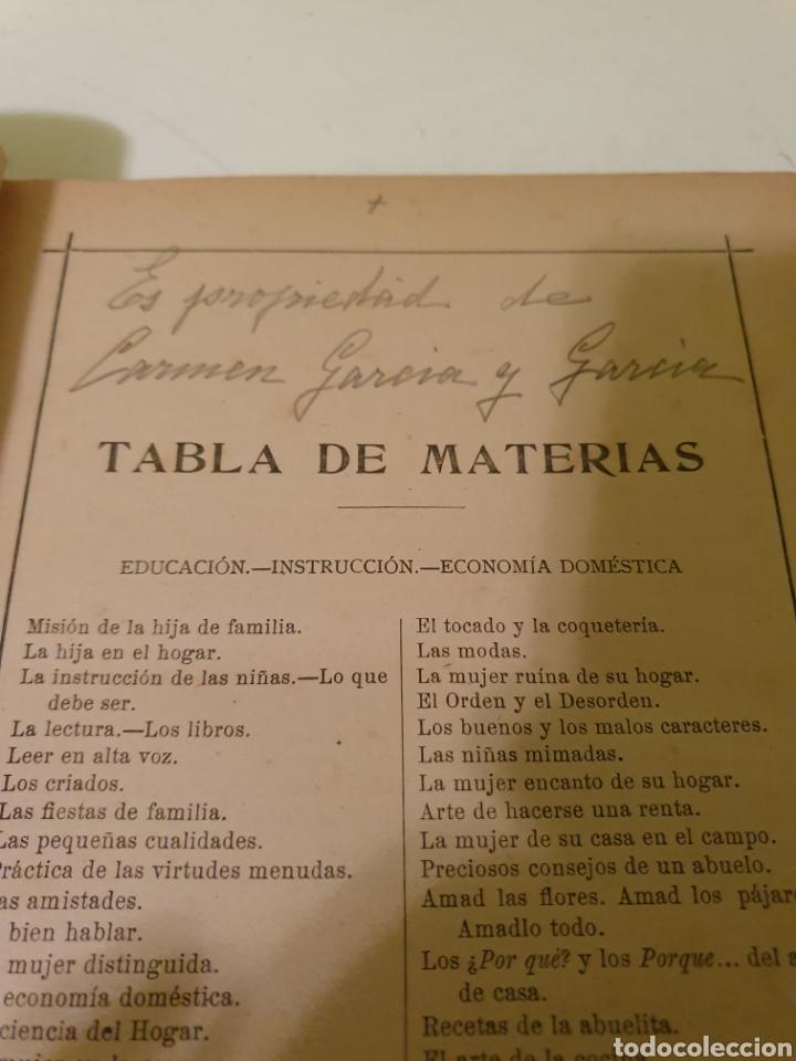 Libros antiguos: LIBRO ANTIGUO LAS HIJAS BIEN EDUCADAS M ATOCHA OSSORIO Y GALLARDO - Foto 5 - 184392971