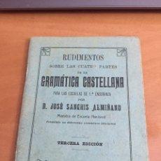 Libros antiguos: LIBRO GRAMÁTICA CASTELLANA. Lote 184826971