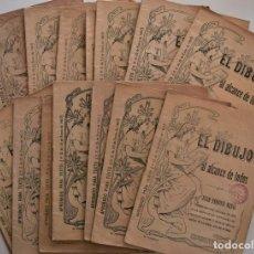 Libros antiguos: LOTE 13 CUADERNOS DIFERENTES EL DIBUJO AL ALCANCE DE TODOS - JUAN FERRER MIRÓ. Lote 185079451