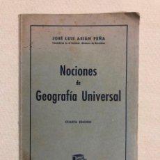 Libros antiguos: NOCIONES DE GEOGRAFÍA UNIVERSAL. Lote 187181512