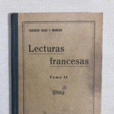 Libros antiguos: LECTURAS FRANCESAS. Lote 187189913