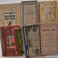Libros antiguos: LOTE 7 LIBROS DE TEXTO HISTORIA NATURAL,, ORTOGRAFÍA, URBANISMO, RELIGIÓN, LECTURA (VER RELACIÓN). Lote 188834991