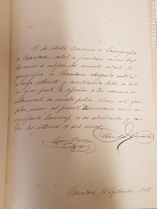 Libros antiguos: Diccionario Taquigrafico de la lengua Castellana Sistema Marti-Escuela Catalana Barcelona 1912 - Foto 3 - 189486170