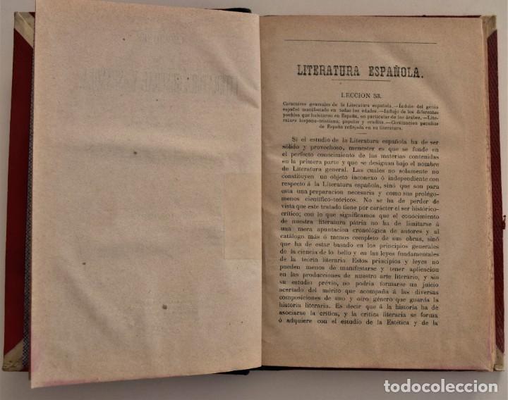 Libros antiguos: LECCIONES DE LITERATURA GENERAL Y ESPAÑOLA - 2º PARTE, LITERATURA ESPAÑOLA - R. CANO - PALENCIA 1877 - Foto 4 - 189958892