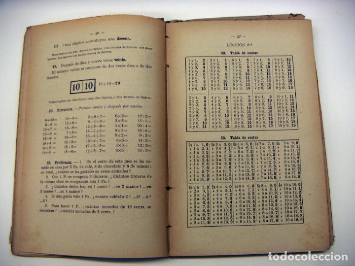 Libros antiguos: Libro Aritmetica Primer grado Ed. F.T.D. 1921 - Foto 3 - 190033267